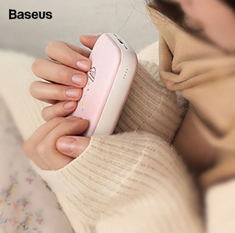 Baseus Mini Q Hand Warmer Power Bank 10000mAh (Super Cute) with 12 months official warranty.