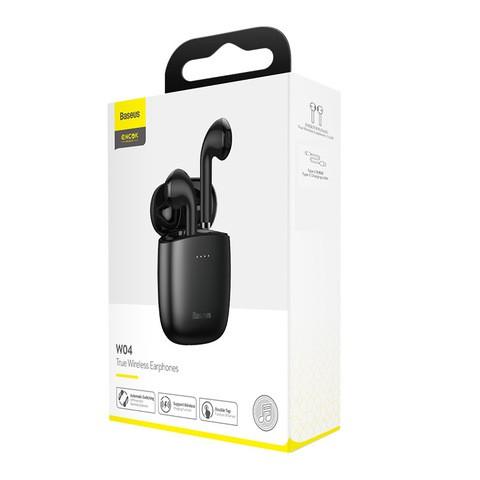 Baseus Encok True Wireless Earphones W04 Pro Black (NGW04P-01)