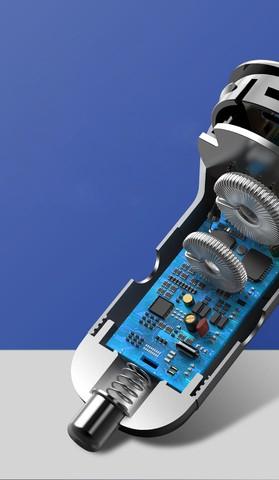 Baseus Digital Display Car charger USB QC4.0 + USB-C PD 3.0, 45W 5A (gray)