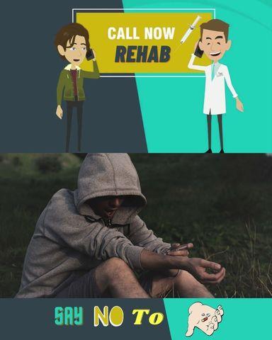 Rehab Drug Addiction Remediation 2D Animated