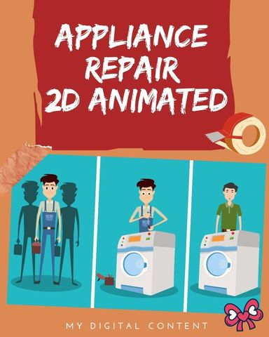 Appliance Repair 2D Animated Video Super Friday