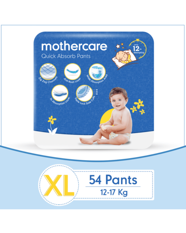 Mothercare Diaper Pants Extra Absorb Extra Large- 54 pcs