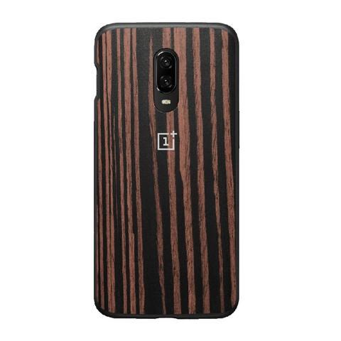 OnePlus 6T Ebony Wood Bumper Case