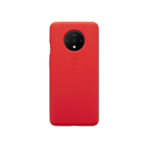 OnePlus 7T Silicon Bumper Case (Red)