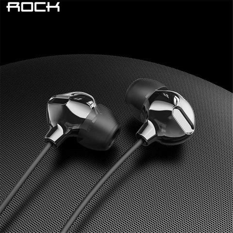 ROCKSPACE Wired Earphone With Microphone Obsidian (3.5mm Jack)