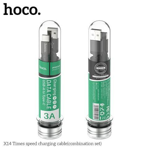 Hoco X14 test-tube varient (Micro B, Type-C and Lightning