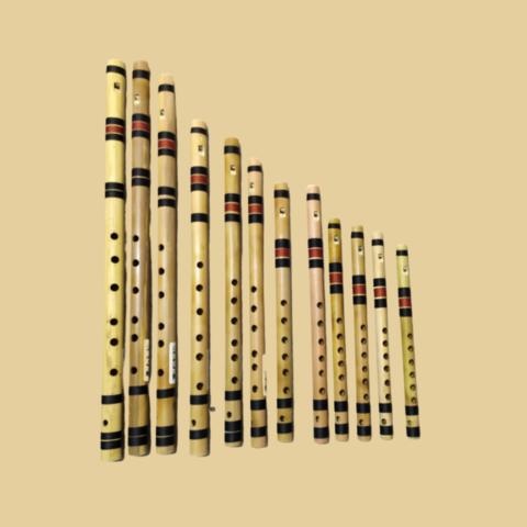 Professional Bamboo whistle Flutes Set - 12 pcs