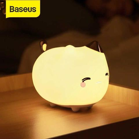 Baseus Cute Series Kitty Silicone Night Light
