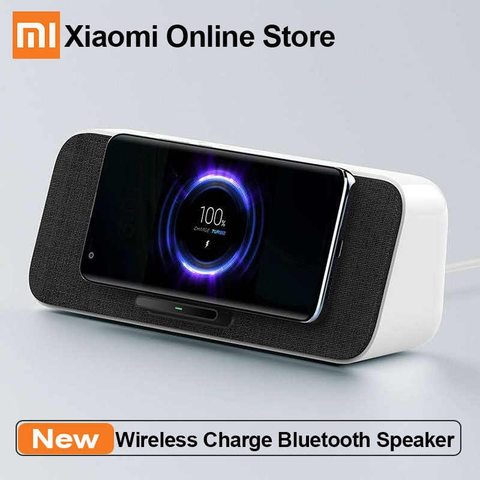 Xiaomi 2 in 1 Bluetooth 5.0 Speaker Dual Bass 30W MAX Qi Wireless Charger – White (3 months official warranty)