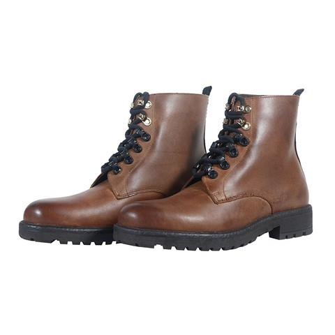 Brn Style Leather Boot-081805-3