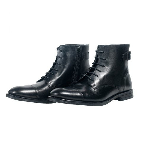 Black Leather Boot for Men-900503
