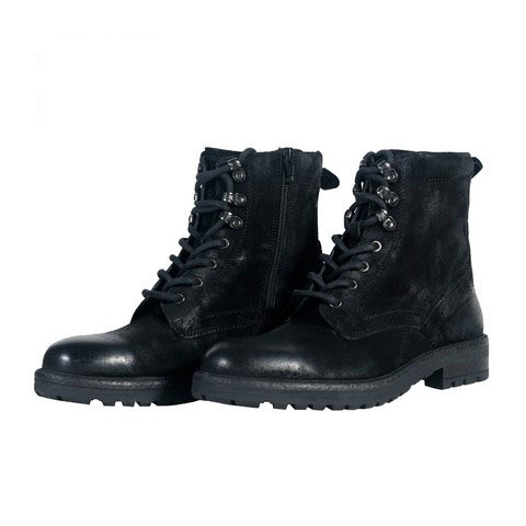 Black Leather Boot for Men-001123-2