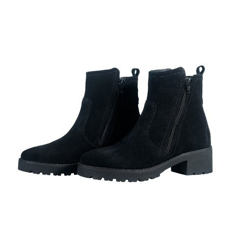 Black Leather Boot for Women-219W1002