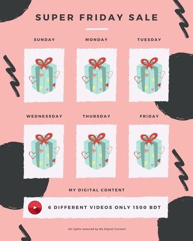 Super Friday Offer - 6 Videos (limited time) MDC