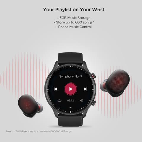 Amazfit GTR 2 AMOLED Curved Display 47mm Smart Watch Global Version official 12 month warranty