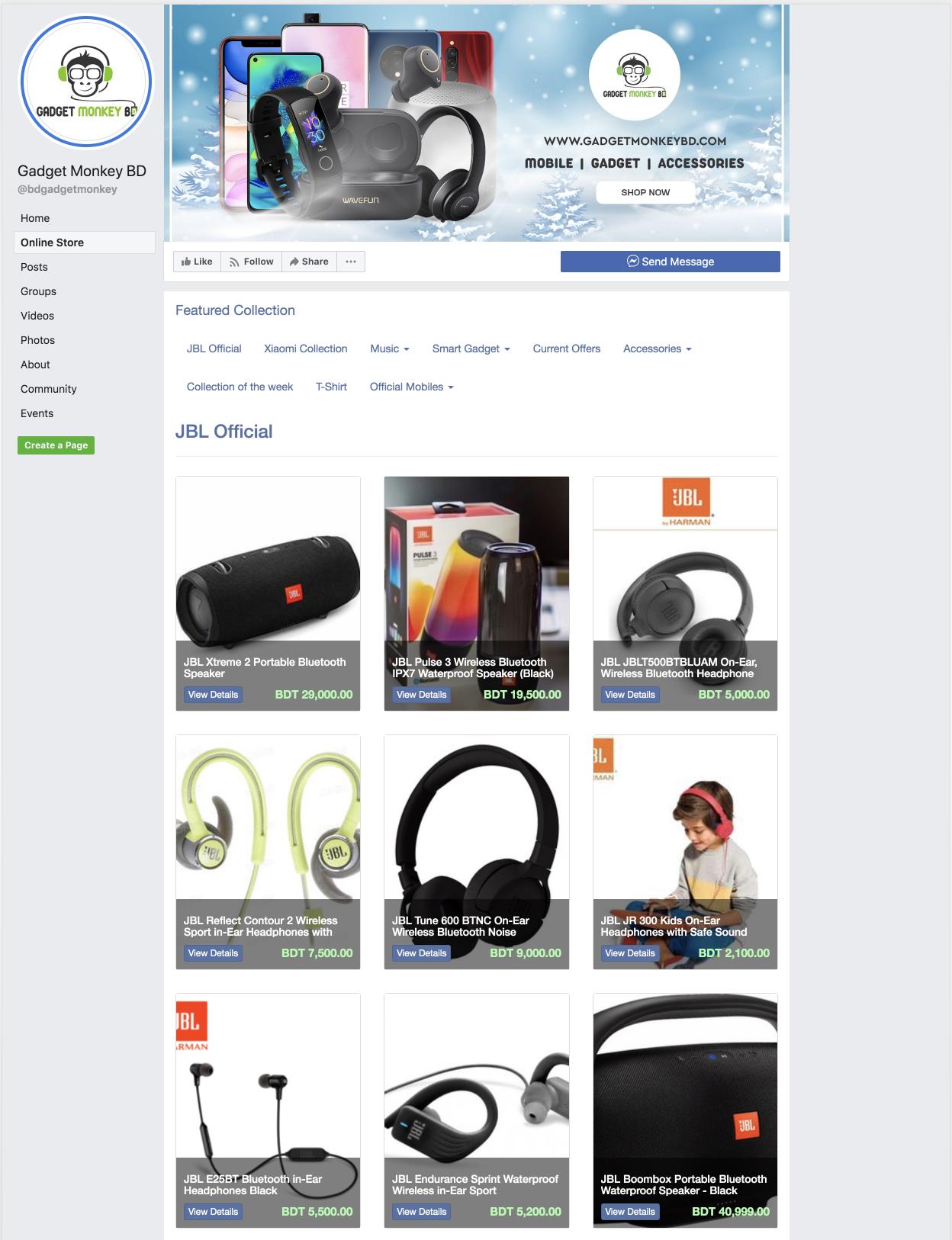 Facebook Store App   Storrea