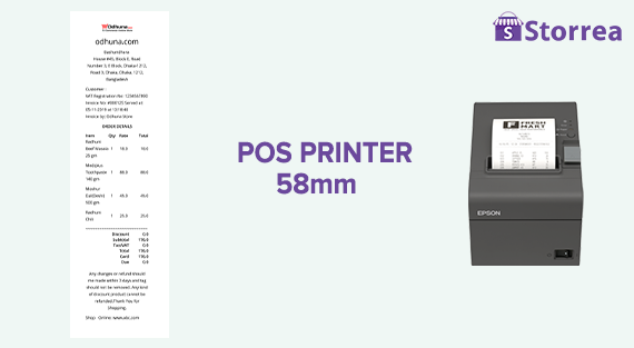 POS Receipt 58mm | Storrea